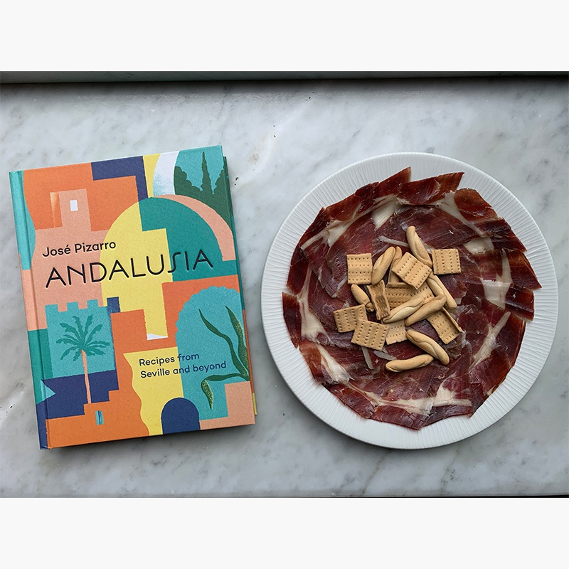 Andalusia recipe book, 5J Jamón Ibérico and JP picos