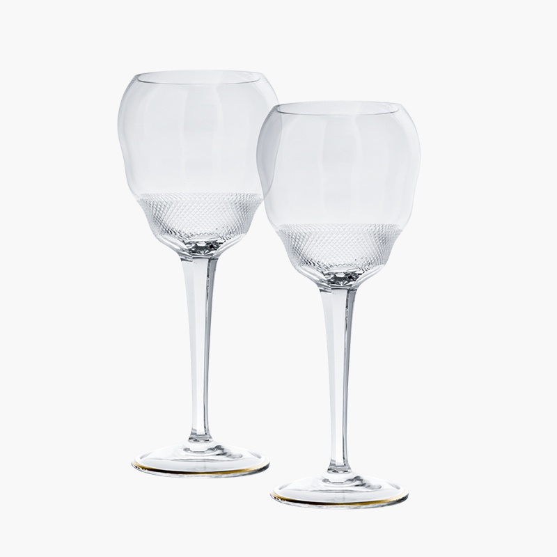 Moser and José Pizarro crystal sherry glasses
